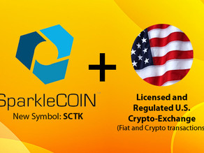 SparkleCOIN to be listed on a licensed and regulated U.S. based cryptocurrency exchange