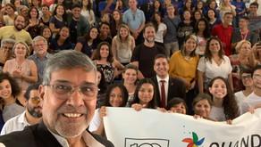 Nobel Peace Laureate addresses students at University of Brasilia