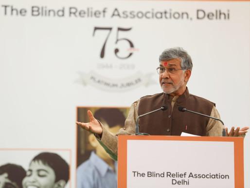 Nobel Peace Laureate graces Platinum Jubilee Celebrations of Blind Relief School