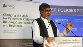 Nobel Peace Laureate launches a report on Vulnerable children at OECD, Paris