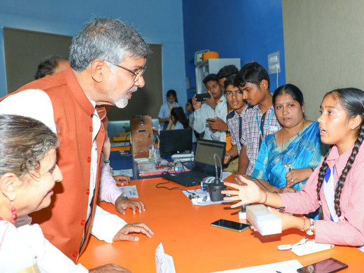 Nobel Peace Laureate interacts with students at Atal Tinkering Lab