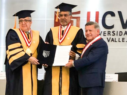Universidad Cesar Vallejo, Peru confers Honorary Doctorate on Nobel Peace Laureate
