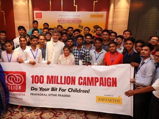 Nobel Peace Laureate encourages youth volunteers at Prayagraj