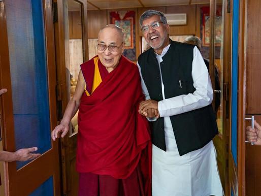 Nobel Peace Laureate Mr. Kailash Satyarthi visits His Holiness Dalai Lama