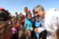 Kailash Satyarthi with children at Zaata