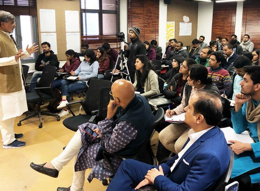 Nobel Peace Laureate addresses students of Indian School of Public Policy, Delhi