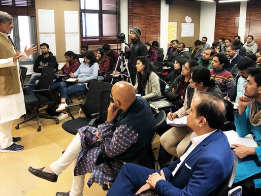 Nobel Peace Laureate addresses students of Indian School of Public Policy, Delhi