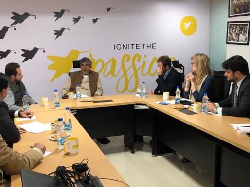 Top Corporate Honchos from Brazil meet Nobel Peace Laureate