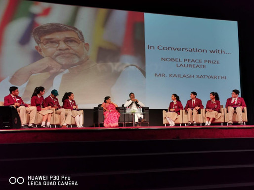 School Children in Dubai get their share of motivation from the Nobel Peace Laureate