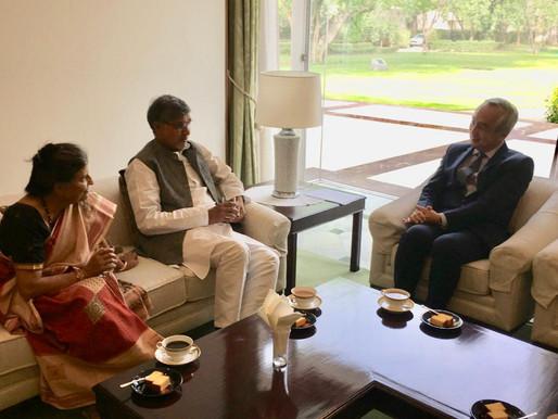 Nobel Peace Laureate meets Ambassador of Japan