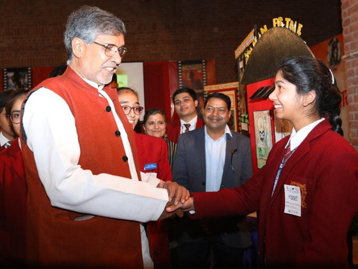 Nobel Peace Laureate addresses students at Founder's Day celebration of Jaipuria School