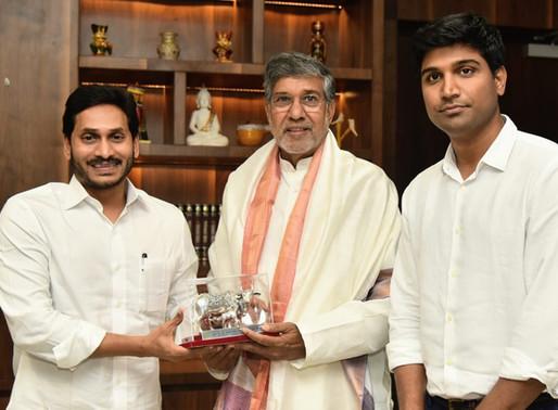 Nobel Peace Laureate calls upon Andhra Pradesh CM