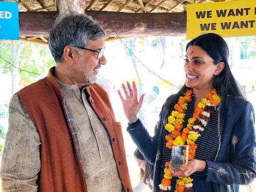 Celebrity fashion designer from the US, Rachel Roy visits Mukti Ashram