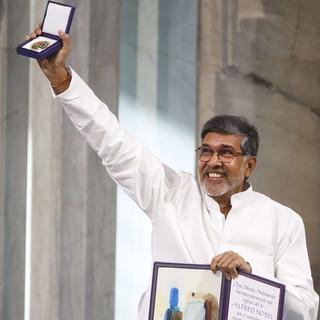 Kailash holding Nobel