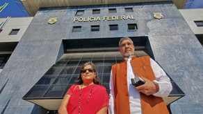 Nobel Peace Laureate meets former Brazilian President at a special jail in Brazil