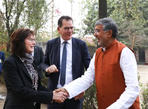 German Federal Minister for Economic Cooperation & Development visits Mukti Ashram