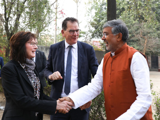 German Federal Minister for Economic Cooperation & Development visits Mukti Ashram