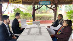 Delegation from Nizami Ganjavi International Centre visits Mukti Ashram