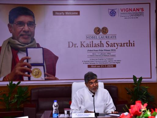 Vignan University, Andhra Pradesh welcomes Nobel Peace Laureate