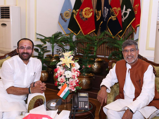Nobel Peace Laureate calls on Minister of State for Home Affairs, India