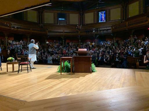 Nobel Laureate speaks at screening of Price of Free in Boston