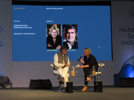 Nobel Laureate speaks at Nobel Prize Series India 2019