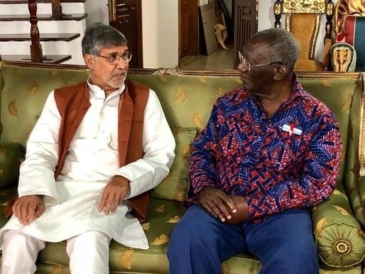 Nobel Peace Laureate meets Ex President Kufuor of Ghana