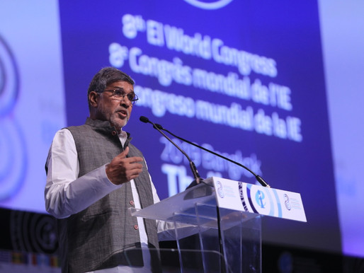 Nobel Peace Laureate addresses teachers from 151 countries at EIWC
