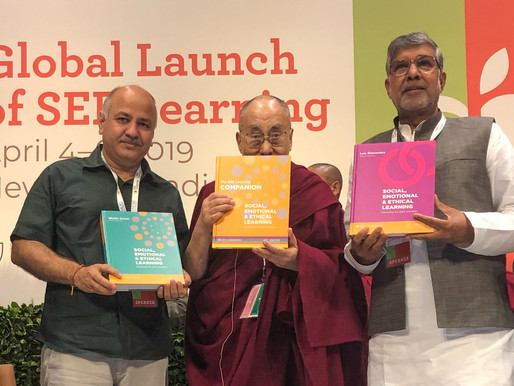 Mr. Kailash Satyarthi unveils SEE Learning Curriculum with His Holiness Dalai Lama