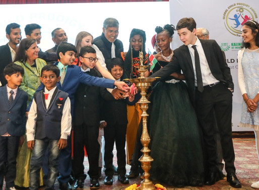 100 Talented children from 45 countries awarded at Global Child Prodigy Awards in Delhi