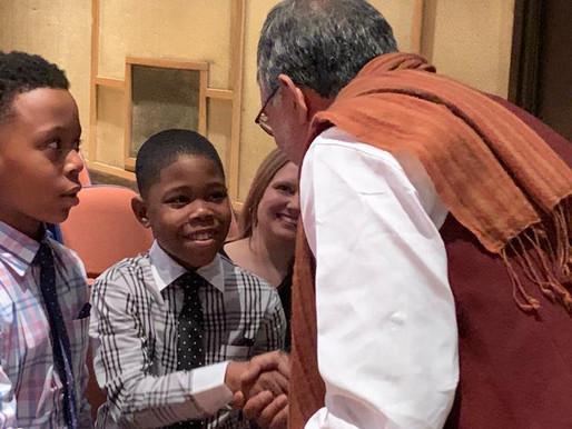 Mr. Kailash Satyarthi inspires the people of Kalamazoo