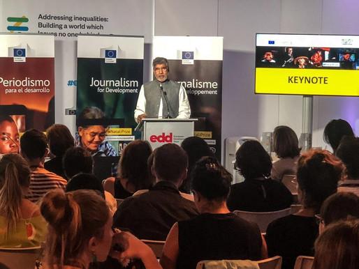 Nobel Peace Laureate addresses journalists at Lorenzo Natali Media Awards