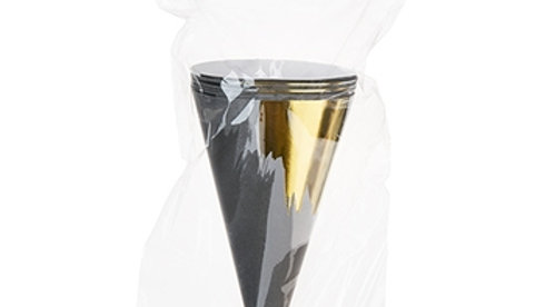 Brushstroke Noir Treat Cones
