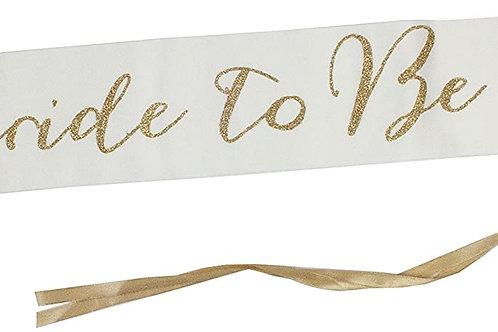 Modern Romance Bride-to-be Sash