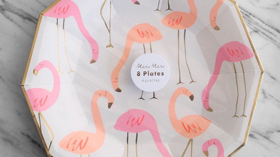 Flamingo Plates (small)