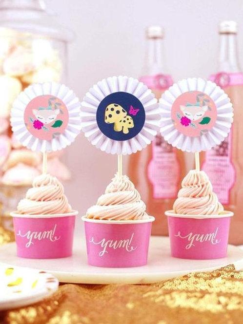 Woodland Animals Cupcake Set