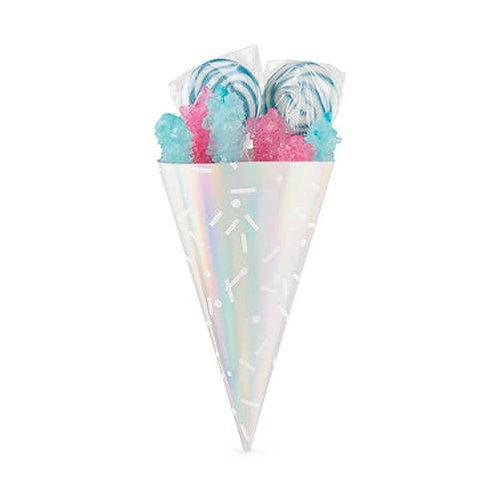 Iridescent Sprinkle Treat Cones