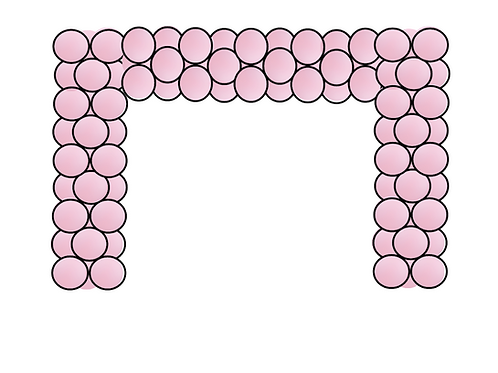 Solid Color Square Arch