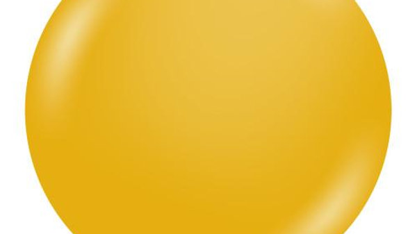 """Mustard Balloon 17"""""""