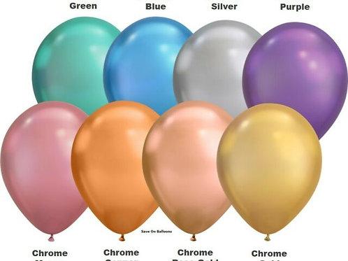 """Chrome Latex Balloon 11"""""""