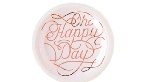 """Oh Happy Day 7"""" Plates"""