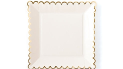 "Basic Plates 9""- Cream"