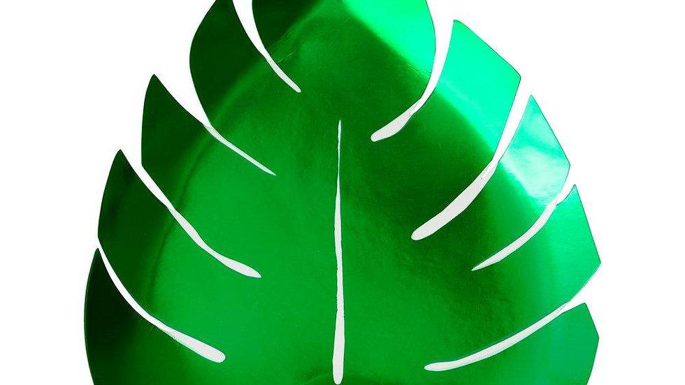 Green Palm Leaf Plates