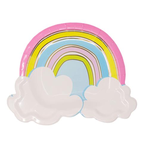 Rainbow Sketch Dessert Plates 7 Inch