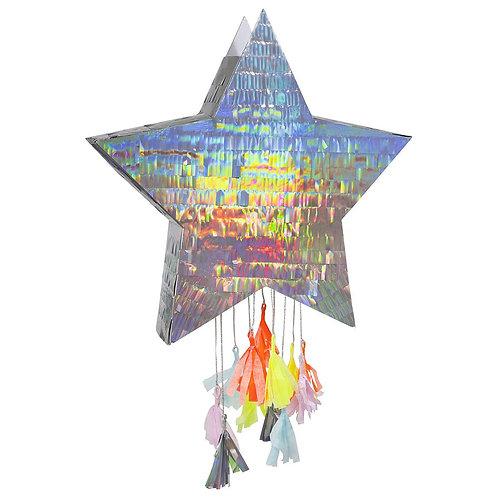 Silver Star Party Pinata