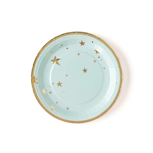 "Baby Blue Star 9"" Plates"