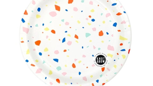 Rainbow Chip Large Party Plate