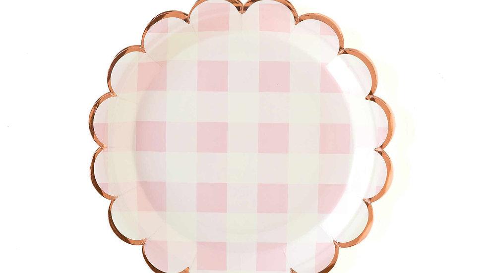 """Pink Buffalo Scalloped 9"""" Plates"""