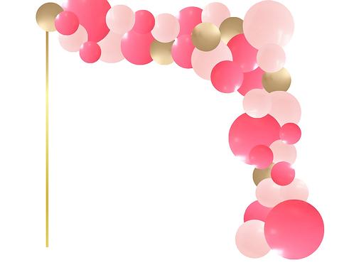8'x 8' L Shape Balloon Arch