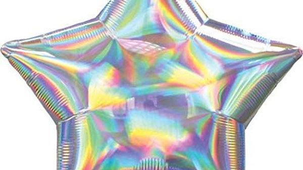 "19 "" Iridescent Pastel Rainbow Star"